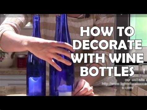 how to decorate for a diy recycled wine bottle decorations