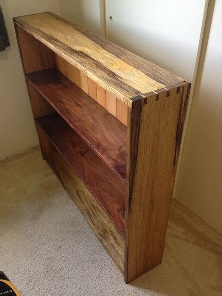 black limba dovetailed bookshelf by anneofalltrades