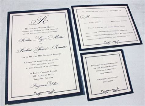 Formal Wedding Invitations