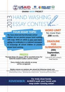 No Buy Day Essay by Global Handwashing Day 2013 Essay Contest Poster