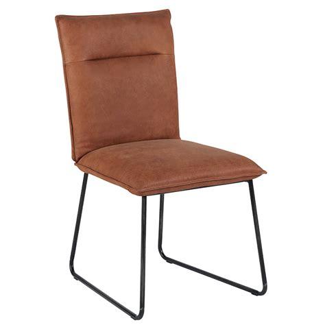 chaises pas chères chaise cuir camel pieds metal casita meubles gibaud