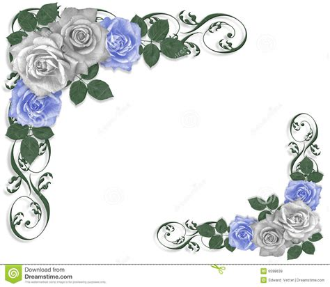 wedding border line blue flower clipart blue wedding border pencil and in