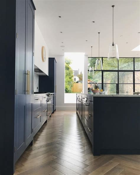 Navy, Marble and Brass Kitchen Decor   Interiors By Color