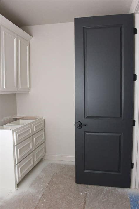 door color is wrought iron by benjamin trim paint