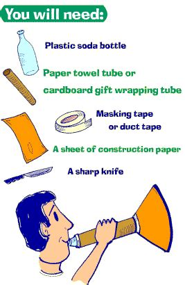 How To Make A Paper Trumpet That Plays - make your own trumpet at home paint yourself blue call