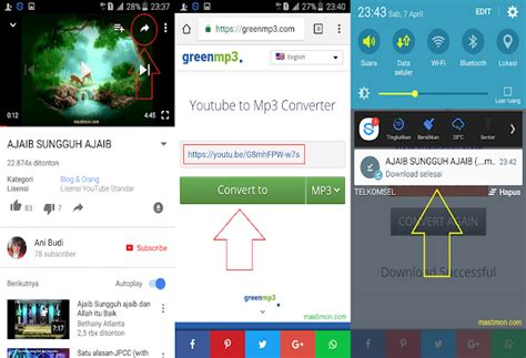 cara download mp3 dari youtube pakai android cara download mp3 dari youtube di android tanpa aplikasi