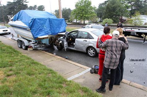 boat crash nj greenwich township car versus boat crash results in