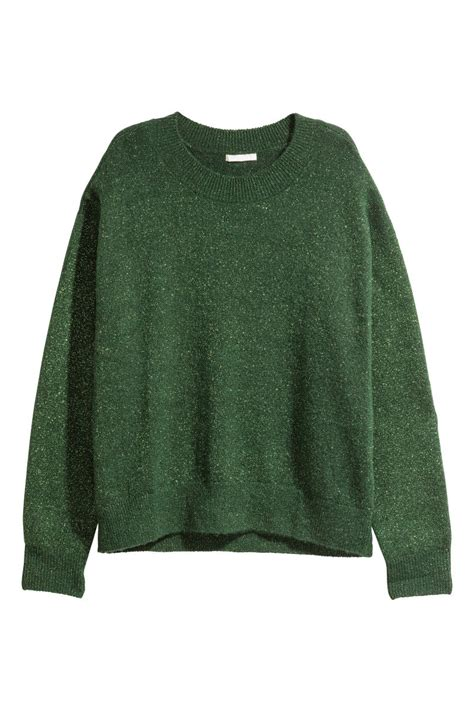 Hm Sweater Deer Fit L knit sweater green sale h m us
