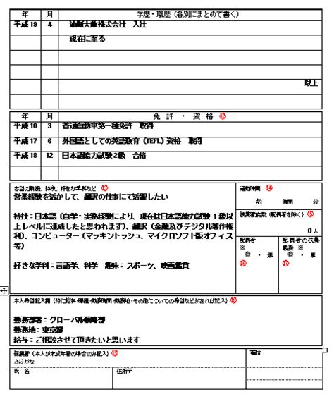 Resume Template In Japanese rirekisho the japanese resume turningpin s mad tokyo