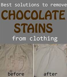 best solutions to remove chocolate stains from clothing