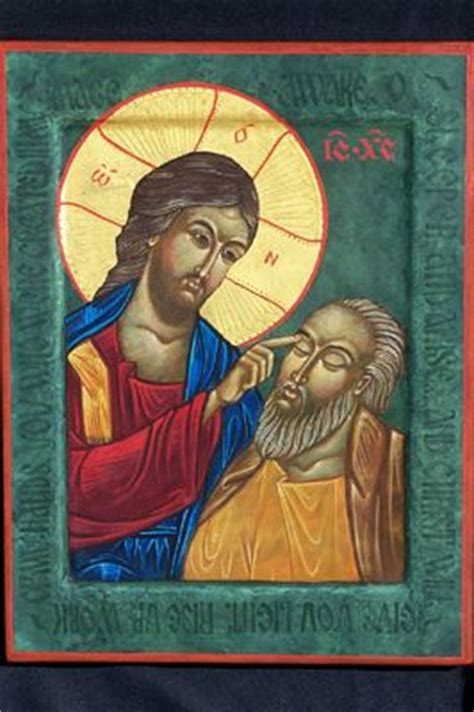 Blind Bartimeus Icons Of Christ