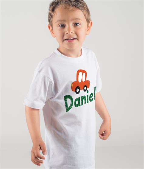 T Shirt Kinder Auto by Personalisiertes Kinder T Shirt Auto Name Dezuu
