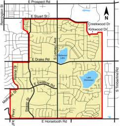 map of fort collins colorado phase i map fort collins utilities