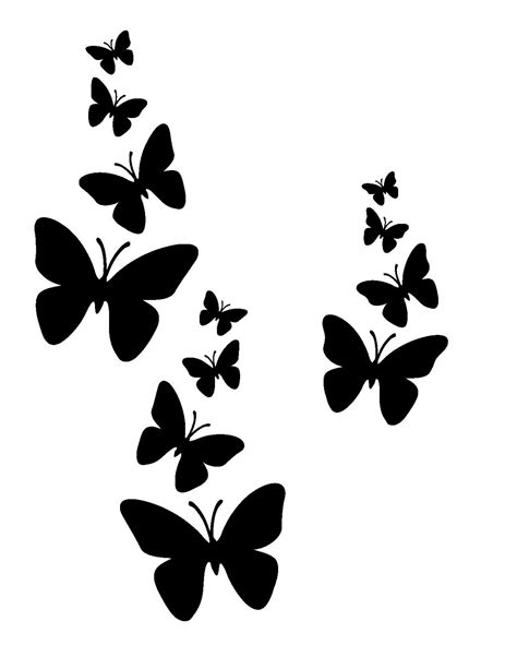 free butterfly tattoo designs to print printable stencils with simple design activity shelter