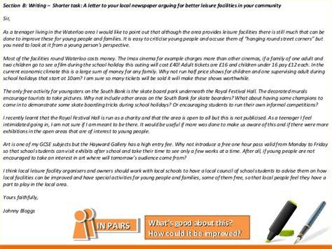 Gcse Letter Questions aqa language writing questions 5 6