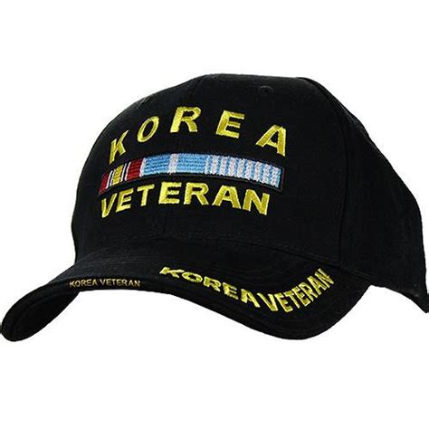 korea veteran ribbon rack deluxe black low profile cap usamm