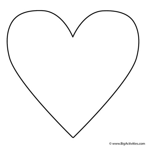 coloring pages of big hearts heart coloring pages