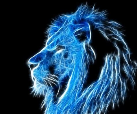 wallpaper blue lion download blue lion fractal wallpapers to your cell phone