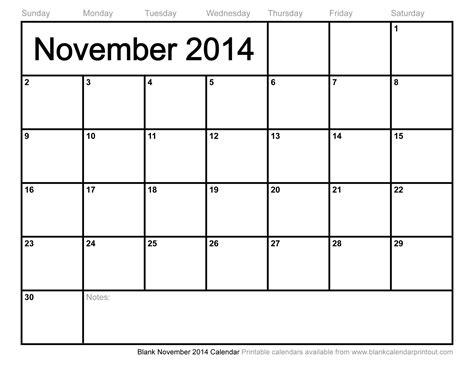 november 2014 blank calendar template blank november calendar calendar template 2016