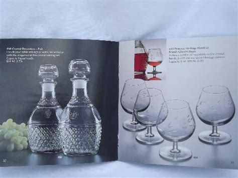 princess house crystal catalog 64 page princess house glassware catalog glass patterns vintage 1981