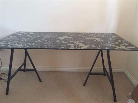 ikea desk table top glass top desk ikea roselawnlutheran