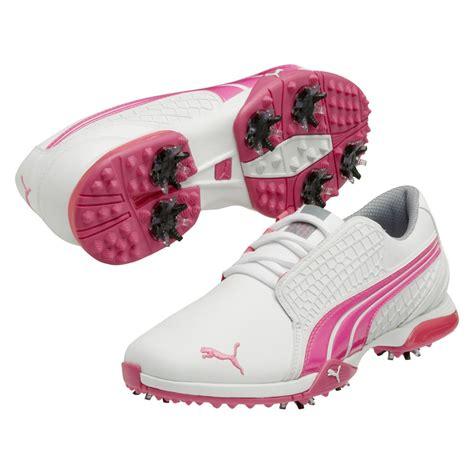 puma biofusion womens golf shoes whitefluorescent pink medium ebay