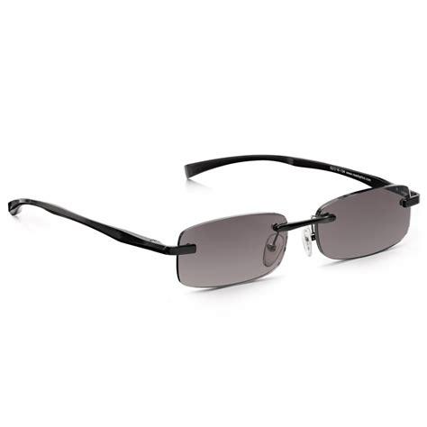 buy read optics mens black sun reader alloy tech rimless