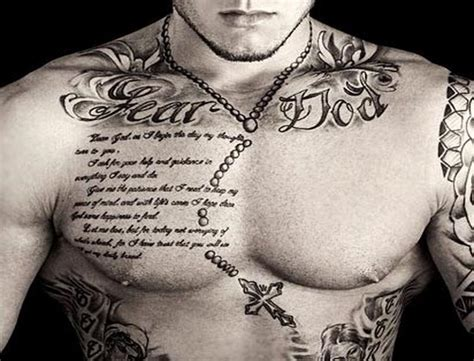 qoute tattoos for men sayings tattoos for tatts chest