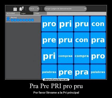 imagenes con palabras pra pre pri pro pru pra pre pri pro pru desmotivaciones