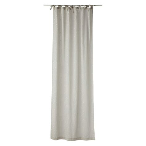 cotton tie top curtains 201 toile cotton tie top curtain in beige 102 x 250cm