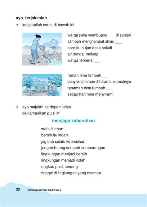 menulis puisi untuk anak sd bahasa indonesia kls2