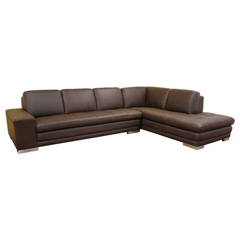 brown leather sectional chaise callidora dark brown leather sectional with chaise dcg