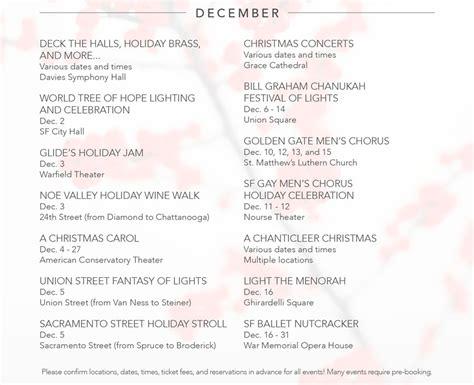 Sf Events Calendar San Francisco Events Calendar Deborah