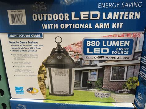 costco led light outdoor led lantern