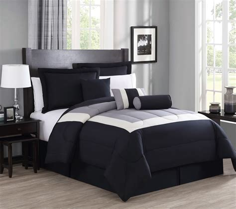 7 piece bedding set 7 piece rosslyn black gray comforter set