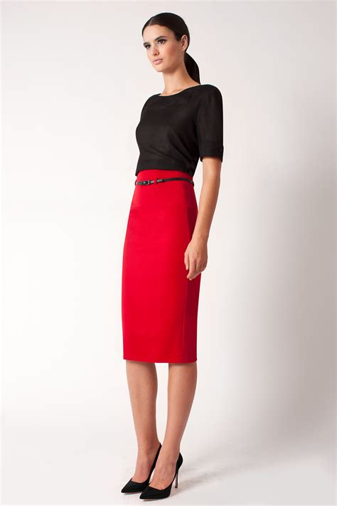 black halo high waist pencil skirt exclusive in