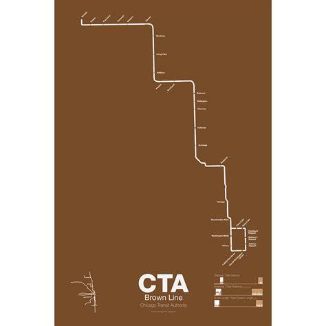 chicago brown line map cta brown line vanmaps