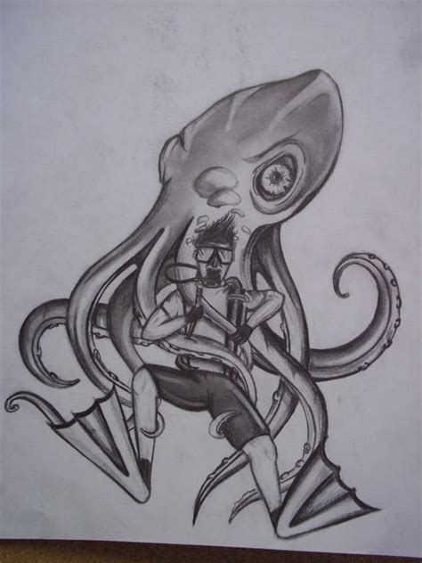 octopus attack by lpope90 on deviantart