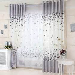 Nursery Room Curtains Cotton White And Gray Curtain With Polka Dot Pattern