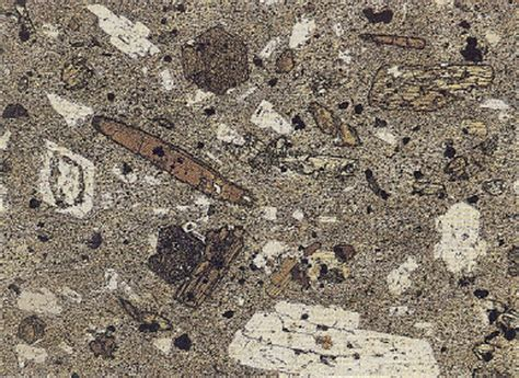 andesite thin section sisyphus iii andesite