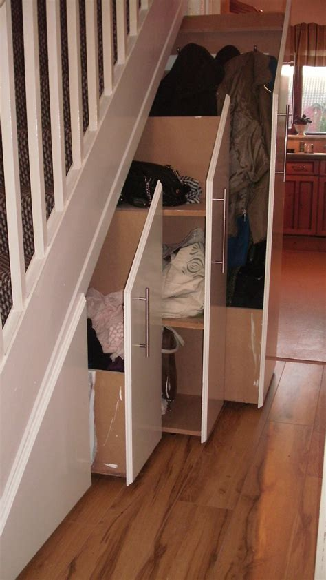 Shoe Rack For Stairs by Stair Shoe Storage Amazing Coat Closet Stairs With