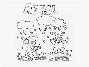 color for april dibujos para colorear ciclo agua az dibujos para
