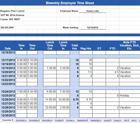 biweekly paid lunch printable time sheet interesting biweekly emplyee timesheet template with time