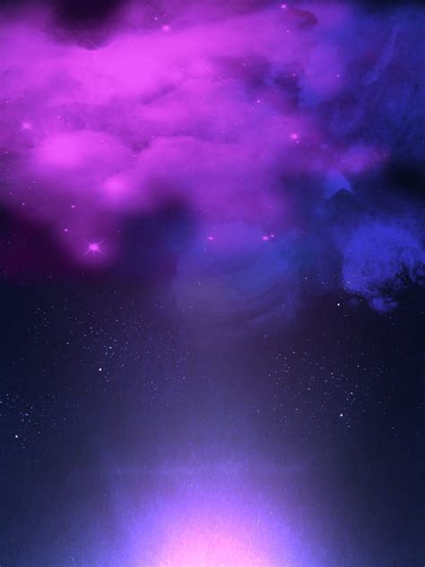 fantasy universe blue purple nebula starry sky background