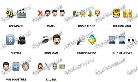 guess the film by emoji guess the movie answers level 8 images