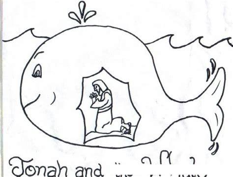 jonas y el gran pez dibujos para colorear dibujo de jonas tragado por el gran pez colorear