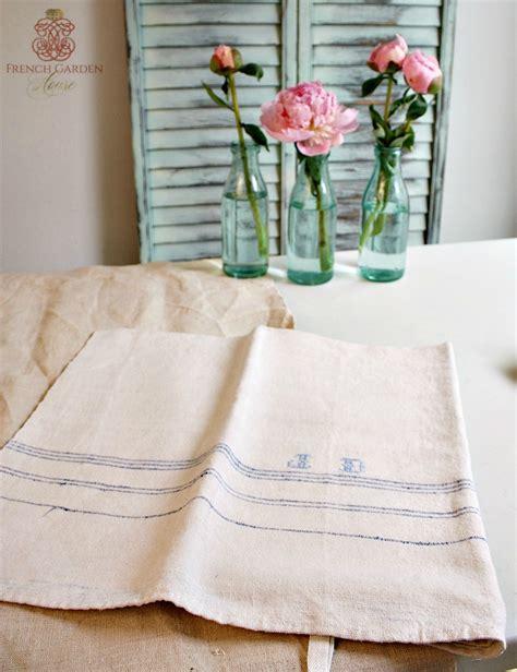 Light Blue Kitchen Towels Antique Linen Kitchen Towel Light Blue Monogram J D
