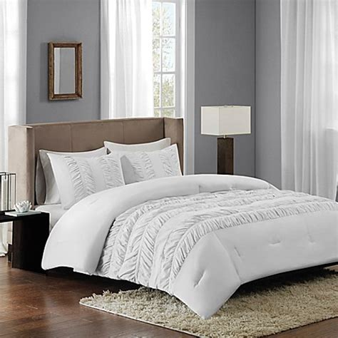 buy regency height deanna ruched comforter set from bed