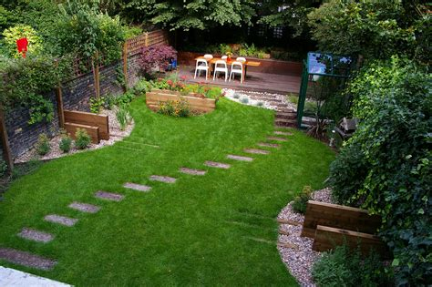 cottage garden plus rock backyard landscaping idea
