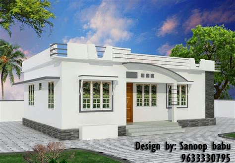 800 sqft modern style home design 10 5 lakh home